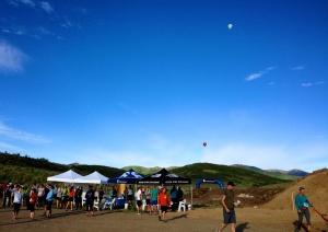 More pre-race hot air balloons.