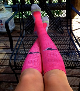 Recovering in my ProCompression marathon socks.